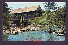 LMH Postcard  PERRY STREAM COVERED BRIDGE Connecticut Lakes PITTSBURGH NH Region