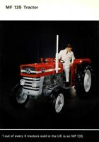 Vintage Massey Ferguson 135 Tractor Poster Brochure Print RARE (A3)
