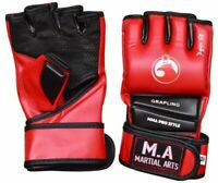 MMA Gloves Grappling Punching Bag Training Boxing Martial Arts Sparring Mitt
