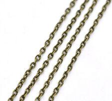 1m Chaine maille Forçat Texturée chainette bronze 4mm x 2,5mm petit maillon