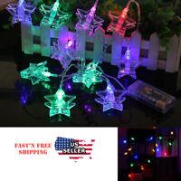 Star LED Photo Clip String light Room Decor Battery powered  Christmas RBG 10FT