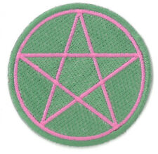 Green Pentagram Star iron on/sew on Embroidered Patch Applique (US Seller)