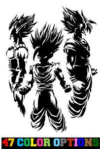 Dragon Ball Z Goku Cartoon Car Bumper Sticker Decal 5/'/'x 2/'/'