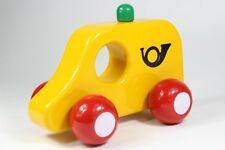 Kouvalias Vintage Greek Car Post Rare 80's Toy Yellow Wooden TRUCK Greece