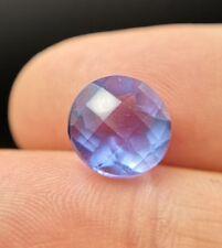 Large round cut blue Fluorite gemstone from China