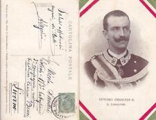 C309) WW1, VITTORIO EMANUELE III IL LIBERATORE, LIRICA POPOLARE AI SOLDATI. VG.