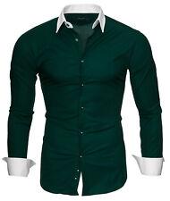 kayhan herren hemd hemden hochzeit gastro freizeit slim fit S-XXL Dunkelgrün