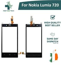 For Nokia Lumia 720 Touch Screen Digitizer Front Glass Lens Replacement Black