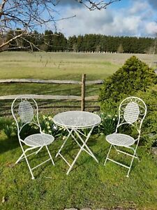 Bistro Patio Garden Metal Set Folding Table And 2 Chairs 🍷☀️