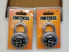 Fortress 1850d Combination Padlock Single Preset Silver