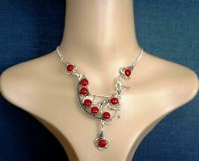 HANDMADE Red Coral NECKLACE - Elegant, Fashion Style ,High Quality, 18 1/4''.