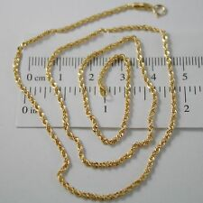 CADENA EN ORO AMARILLO 18K, CUERDA 2 MM, COLLAR, 60 CM, MADE IN ITALY, ITALIA