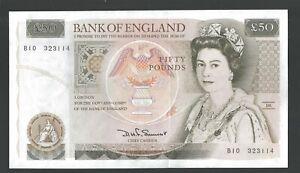 B352 Somerset 1981 £50 BANKNOTE Series D B10 323114  UNC