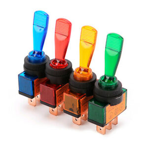 4X LED Lights Toggle Rocker Switch On/Off SPST For Car Auto Boat 3 Pin 12V 20A