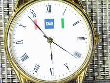 RELOJ DE COLECCION AÑOS 80 TVE TELEVISION ESPAÑOLA FUNCIONA PERFECTO LOTE WATCHE