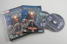 Total War: medieval II 2 incl. manual PC 2006 DVD-box primero tirada en alemán