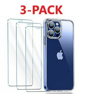 3 PACK For iPhone 12 11 Pro Max XR X XS Max 8 7 Tempered GLASS Screen Protector