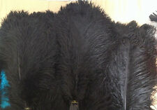 Black Ostrich Feathers/Plume/Wing/ Horse Feather 22-24 inch 12  Pcs (GA,USA)