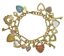 KIRKS FOLLY SWEETHEART SEAVIEW MOON CHARM BRACELET -  7""