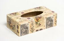 Victorian long Tissue Box Cover handmade in UK wooden