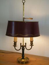 Intelex lamp abat jour bordeaux red arrow chimera sheet excellent condition