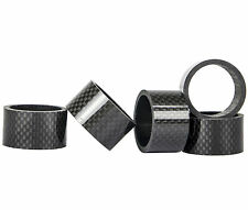 "1 1/8"" Carbon Washers Headset Spacers Carbon Fiber Spacers 5/10/15/20 mm 4pieces"