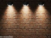 6 X SOLAR POWER POWERED DOOR FENCE WALL LIGHTS LED OUTDOOR GARDEN SHED LIGHTING