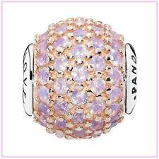 Pandora Rose Gold 796064NOP Essence 'Love' Pink Charm Sterling Silver