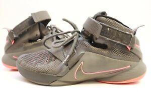 Nike Lebron Soldier IX PRM Dark Grey/Dark Grey/Blk 749490-008 Mens Sz 8.5