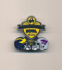 2013 Buffalo Wild Wings Bowl Michigan vs Kansas State NCAA College Football Pin
