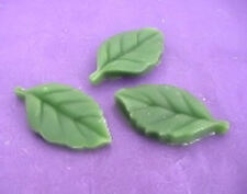 Wax Green Leaves, Set of 10, Props, Gel Embeds, Decoration