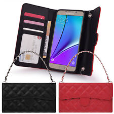 Quilting Hand Bag Wallet Case for Samsung Galaxy Note 8 7 5 4 3 2 1 /FE Edge NEO