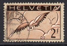 Switzerland 2 Franc Air Mail Stamp c1923-25 Used