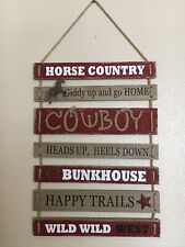 New Rustic Wall Decor Wooden Cowboy Hanging House Country Sign