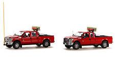 NEW Sword SW1300-RC Ford F-250 Pickup Truck Escort Set - Red/Chrome 1/50 MIB
