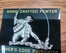 Unpainted Fly Fisherman Hat Pin Brand New