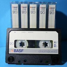 🙈 5x BASF CR II 120 * Type IEC II 2 * Tapes Cassettes Kassetten кассеты *