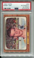 1966 '66 Topps Hockey #35 Bobby Orr Bruins Rookie Card RC Graded PSA Authentic