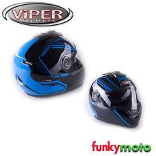 Cascos integrales color principal azul de motocicleta para conductores
