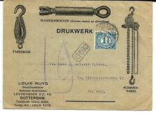 Rijk geïllustreerd Drukwerk Louis Ruys Rotterdam 1½ ct emissie 1899