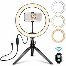 Diyife Ring Light, 10 inch Tabletop Circle Light with Tripod Phone Holder Remote