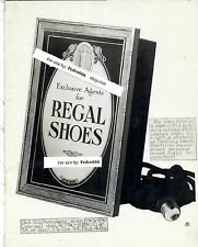 Early 1900's Regal Shoe Lighted Display Salesman's Photoplating Catalog Image