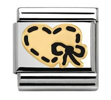 Nomination Charm Black Enamel Heart With Bow RRP £22
