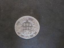 1840 British India Queen Victoria One Rupee Silver Coin