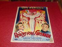 Cinema Plakat Original Belgisches - Rendez Vous A Granada Luis Mariano 1951
