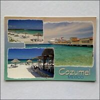 Cozumel Mexico 3 Views 2003 Postcard (P432)