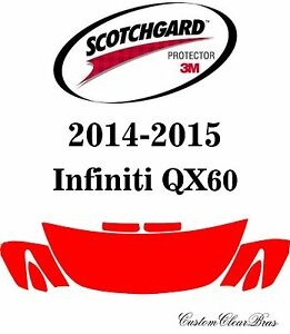 3M Scotchgard Paint Protection Film Pre-Cut Kits Fits 2014 2015 Infiniti QX60