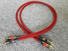 Van Damme - Monster Silver Plated OFC RCA Phono Cable Red braided 0.15m
