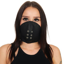 Rinds Leder Mund Bedeckung Wind-Schutz Gesichtsmaske Steampunk Biker Maske *A*