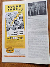 1940 Pennzoil Oil Ad  Turning Dog into a Lion